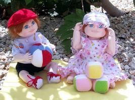"""Megan and Max"" PDF Digital Cloth Doll E-Pattern Download By Katie Bock - $12.00"