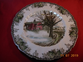 "10 1/2"", Dinner Plate, Johnson Bros., Friendly Village Pattern. Autumn Mists - $14.99"
