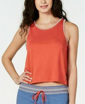 Jenni Stitch-Trim PJs Pajama Tank Top in Cayenne/Orange, Size:Small - $11.87