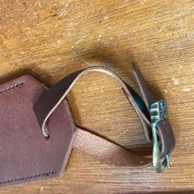 Genuine Chesnut Brown Leather Luggage Tag – 7.75 x 2.55 inches including... - $6.79