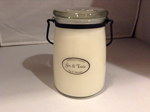 Jar Candle Organic Beeswax Soy Blend Made in USA Gin and Tonic Butter Jar - 22 O