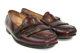 COLE HAAN City Men's Burgandy Dress Shoe Leather Buckle Kiltie Loafers S... - $43.80