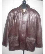 A-PRO-PEAUX MENS DK BROWN LEATHER-L-SUPER SOFT/PLIABLE-CANANDA-BARELY WO... - $24.99