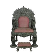 Throne Chair Vintage Silver Charm Royal Maharaja Throne Chair Collectibl... - $47,451.79