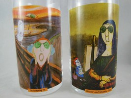 Maxine Drinking Glases Set of 2 Screaming Fit and Hissin Moaning Lisa Ha... - $12.39