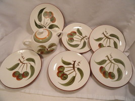 "Orchard Song Stangl LOT Bread Plates 6""  & Sugar with Lid & Gravy Underp... - $14.99"