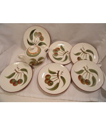 """Orchard Song Stangl LOT Bread Plates 6""""  & Sugar with Lid & Gravy Underp... - $14.99"""