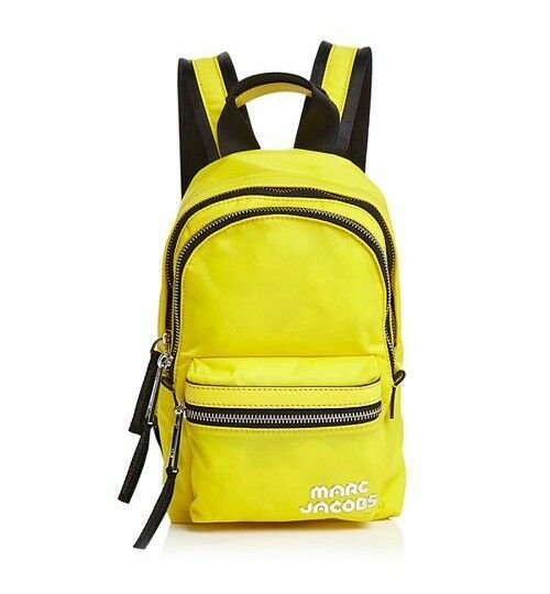 Primary image for NWT MARC JACOBS Mini Trek Nylon and Leather Backpack Daisy Yellow $190+ AUTHENTC