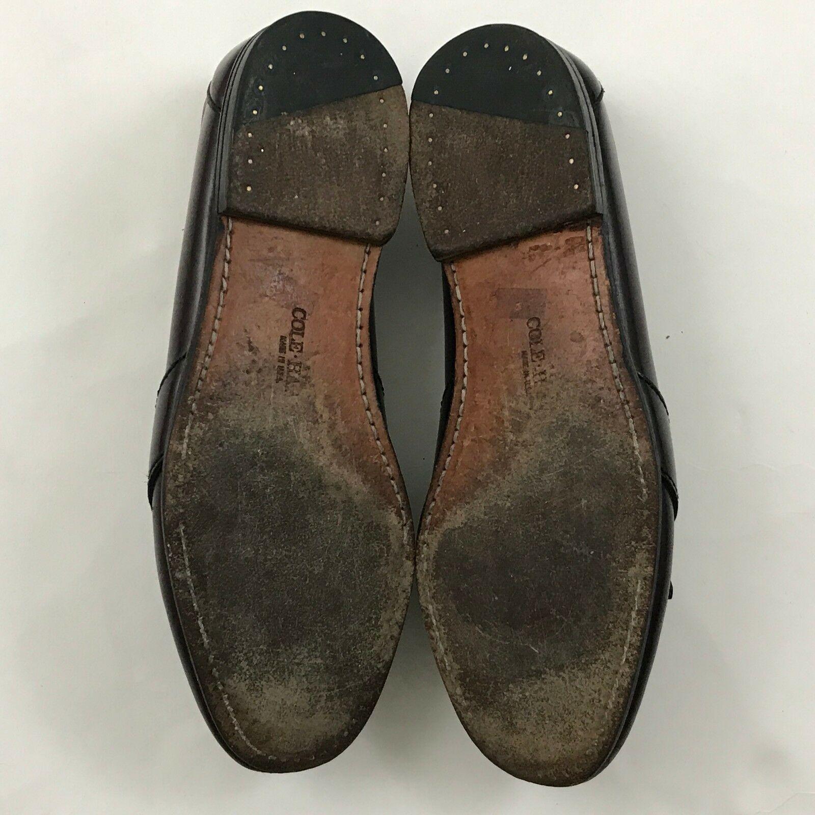 Vintage Cole HAAN Kilti Mocassins Size 8.5 D Cuir Talon Fabriqué aux États Unis