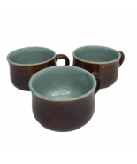 Red Wing Pottery Village Green Minty Stoneware Set of 3 Coffee Mugs Cups  - $24.74