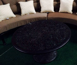 Half moon sofa deep seating outdoor furniture 3pc with table curved bench Bronze image 6