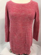 Ann Taylor LOFT Pink Knit 3/4 Sleeve Boat Neck Sweater, Women's Size M - $18.99