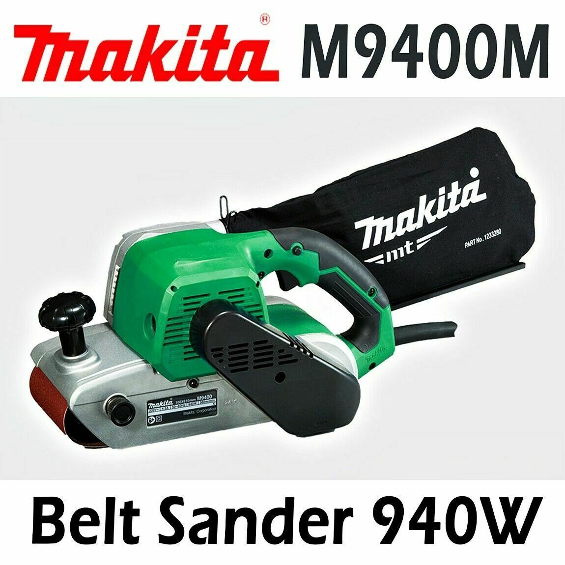 Makita M9400M Corded 100mm Belt Sander Full ball bearing / 940W 220V , Plug C