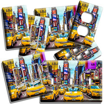 NYC NEW YORK CITY YELLOW CABS TIMES SQUARE LIGHT SWITCH OUTLET GARAGE WA... - $10.99+