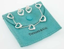 Tiffany & Co. Elsa Peretti Multi-Coeur Chaîne Collier et Stud Earring Se... - $356.40