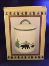 May Rich Company Ceramic Bear Motif - New - Canister - $17.09