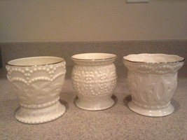 Beautiful Set of 3 Different Patterns Lenox Beaded Votives Candle Holder... - $19.80