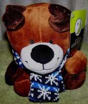 "Animal Adventure Brown Puppy with Snowflake Scarf 6.5"" Plush NWT - $8.88"
