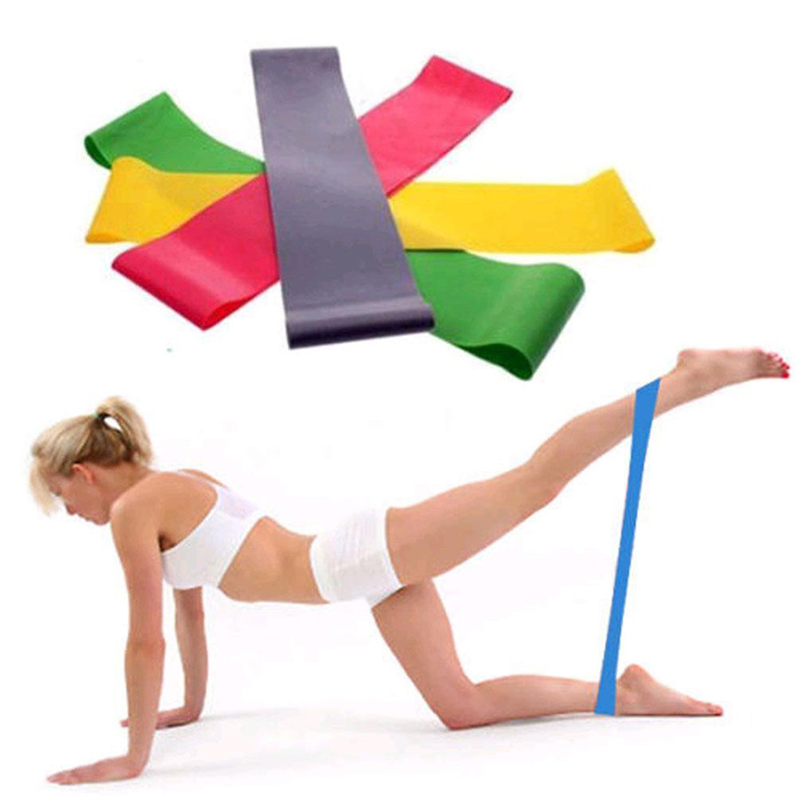 Resistance Band Loop Yoga Pilates Home GYM Fitness Exercise Workout Pull up Rubb