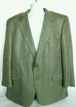 Brooks Brothers Men's Suit Coat 46 Reg Fully Lined Blue Gold Herringbone - $80.48