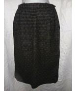 Vintage Bobbie Brooks Wool Skirt Size 6 Small Plaid 26 In Waist Black Gr... - $16.99