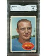 1960 Topps Howard Cassady #42 - Detroit Lions (GMA Graded EX-NM 6) - $19.79