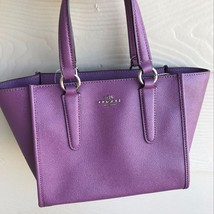 COACH CROSBY CARRYALL 21 IN CROSSGRAIN LEATHER F11925  Mauve $295 - $148.49