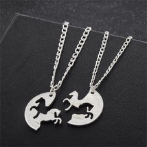 2pcs Bijuteria Horse Pendant Couple Necklace,Pendants for friends Americ... - $5.52