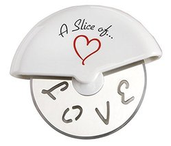 A Slice of Love Stainless-Steel Pizza Cutter in Miniature Pizza Box - $211.46