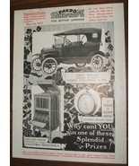 1916 Pakro Seedtape Illustrated Window Display Contest Flyer Ford Tourin... - $24.75