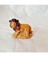 Vintage Wade England Lion with brown mane Figurine Whimsies Red Rose Tea - $6.64