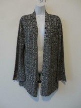 Nwt Eileen Fisher Black White Silk Linen Bell Sleeve Cardigan Sweater Small - $116.39