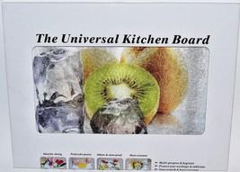 "The Universal Kitchen Board Glass Cutting Board 16"" x 12"" Kiwi Fruit Design - $18.73 CAD"