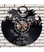 Nightmare Before Christmas Vinyl Record Wall Clock RD2 - $52.86