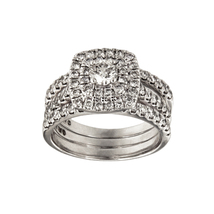 Terrific Triple Band Wedding ring set in 10k White Gold  - $1,750.00