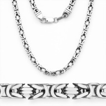 Men/Womens Italy 925 Silver Byzantine Link Italian Chain Necklace w/ Rho... - $353.11+
