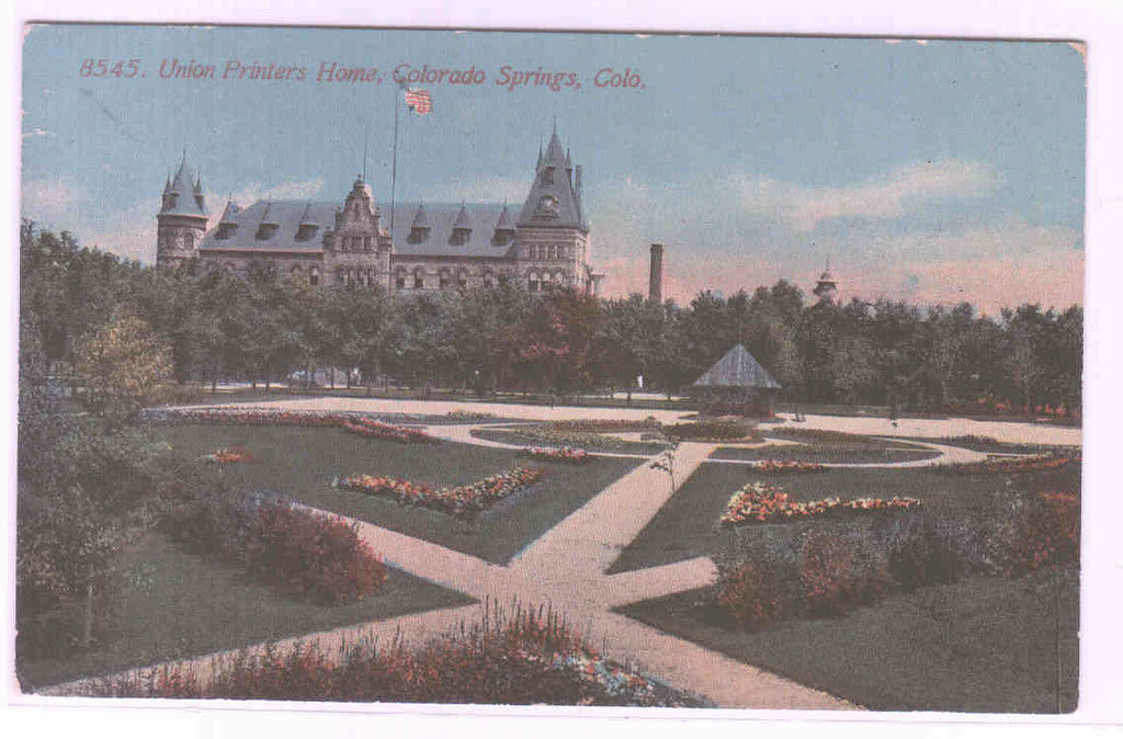Union Printers Home Colorado Springs CO 1910c postcard