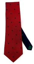 Tommy Hilfiger Red with Blue Star Pattern Neck Tie - $11.99