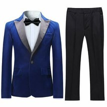 Boyland Boys Tuxedo Suit Velvet Peak Lapl Vintage 2 Pieces Slim Fit Jack... - $104.32+