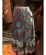 Plenty par Anthropologie de Style Vintage Gypsie Cachemire Bleu Paysante - $51.47