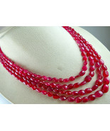 CERTIFIED NATURAL RED SPINEL LONG BEADS LADIES 4 LINE 431 CTS GEMSTONE N... - $3,325.00