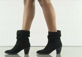 New Steven By Steve Madden Welded Slouch Bootie, Black Suede, Size 8.5 - $59.99