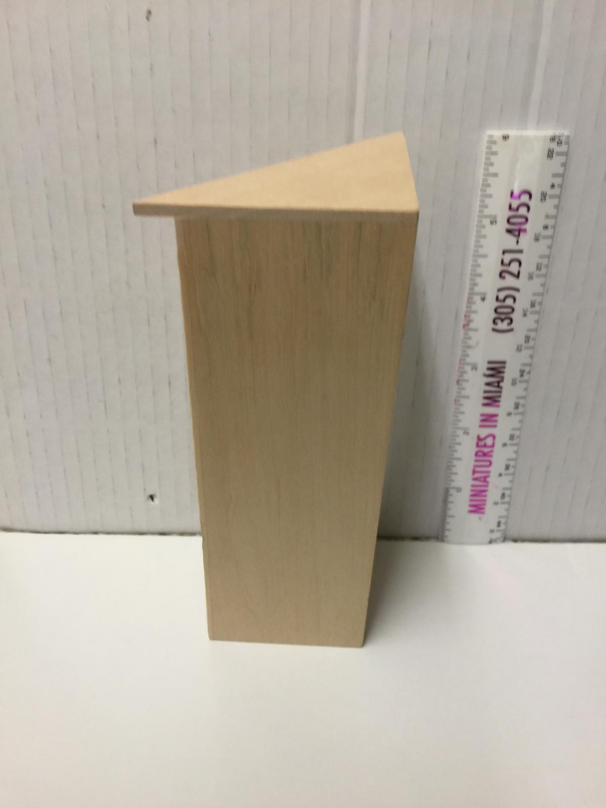 Miniature 5 Shelf Corner BOOKCASE UNIT Dollhouse Furniture Scale 1:12 / unfinish image 5