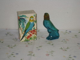 Vintage Avon Island Parakeet Moonwind Cologne Blue Glass Bottle with Box - $9.75