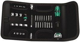 Wera Tools 26Pc Zyklop Ratchet ¼ Socket and Bit Set with pouch Metric - $110.17