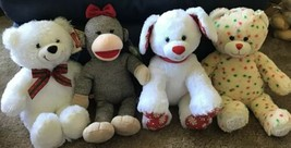 Build A Bear Christmas Lot Of 4 Plush Beary Merry Joy Confetti Merry Min... - $15.00