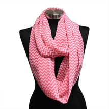 WHOLESALE 10pc Pink Chevron Sheer Infinity Scarf Wrap MOTHERS DAY GIFT B... - $10.39