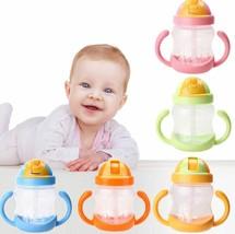 CUTE BABY LEARN TRAINING WATER FEEDING CHILDREN SIPPY CUP HANDLE DRINKIN... - $7.00