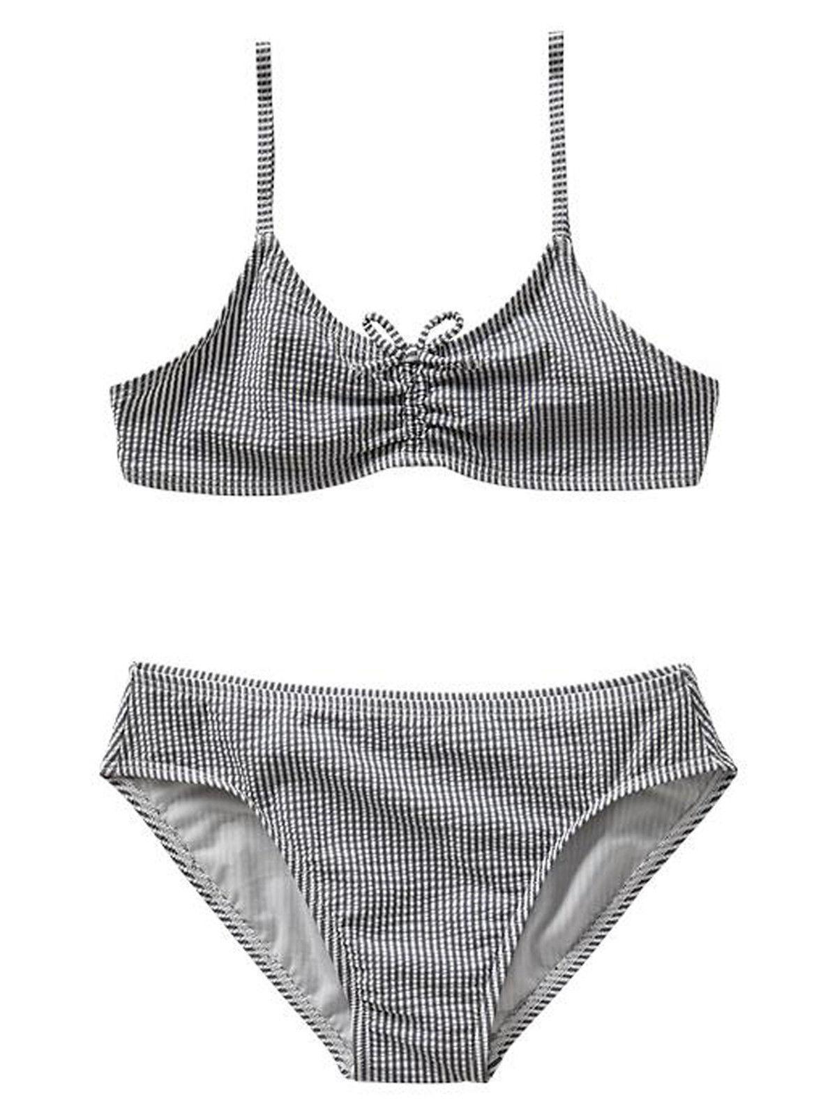 69fca01db7 GAP Kids Girls Swimsuit Bikini 6 7 Navy Blue and 50 similar items