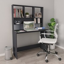 "Desk with Shelves Gray 43.3""x17.7""x61.8"" Chipboard - $208.00"